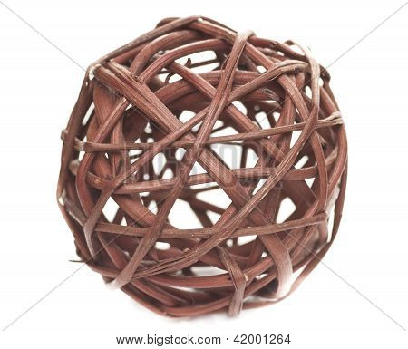 Decorative Sphere Made Of Bound Wicker