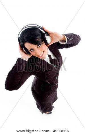 Young Lawyer Holding Headphone