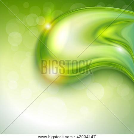 Abstract green background with water drop