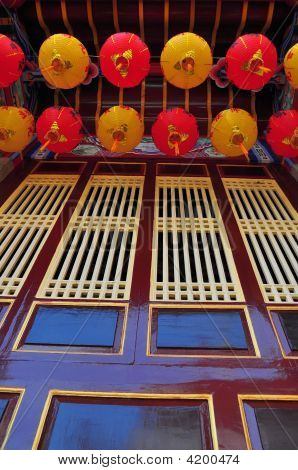 Chinese Lanterns And Windows