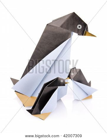 Family Penguin Origami