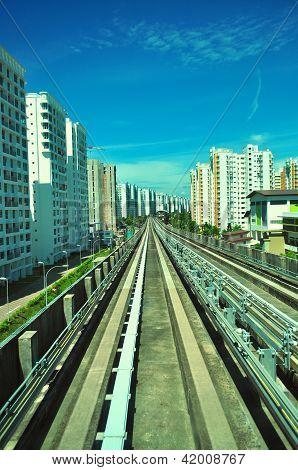 Railway track at Punggol
