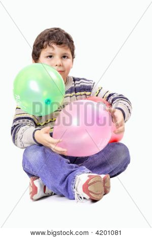 Child And Balloons