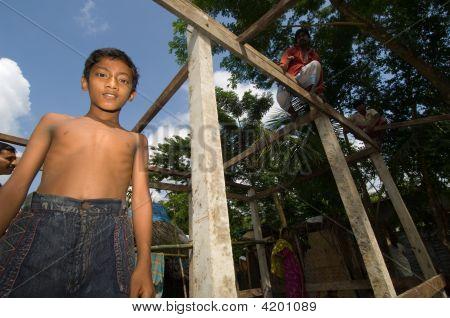 Boy After Hurricane