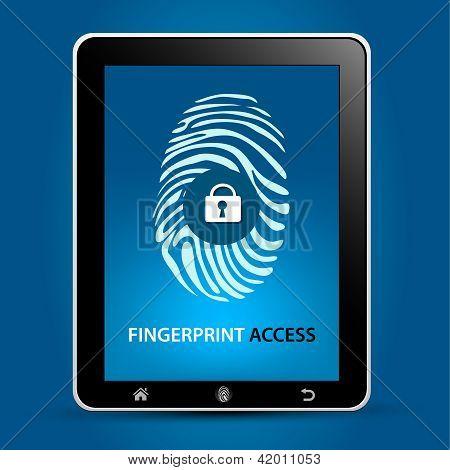 Tablet de digitalização de impressões digitais