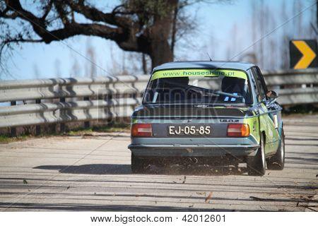 Leiria, Portugal - February 2: Alberto Pereira Drives A Bmw 1602 During 2013 Amateur Winter Rally, I