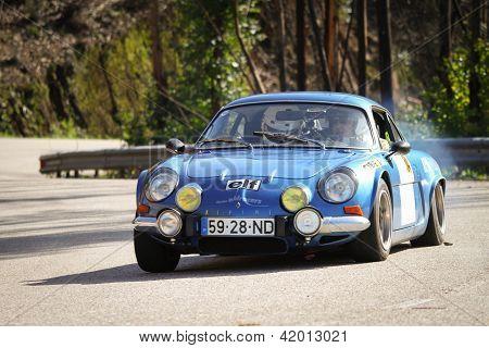Leiria, Portugal - February 2: Carlos Brizido Drives A Renault Alpine 1600 During 2013 Amateur Winte