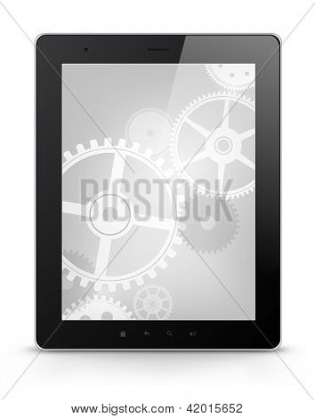 Digital Tablet Concept Isolated on White Background. Vector EPS 10.