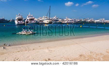 Marina at the beachfront