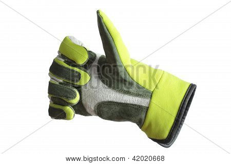 glove thumb up