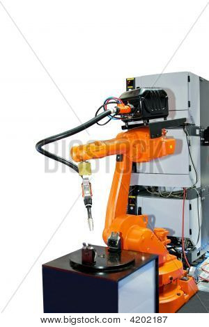 Orange Robotic Arm