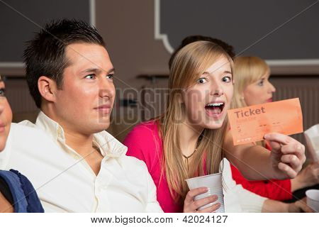 Audience Member Presenting Tickets