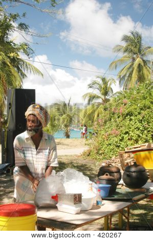 Rasta Man Cooking
