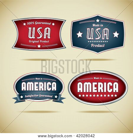 Made in Usa Vector Label Collection