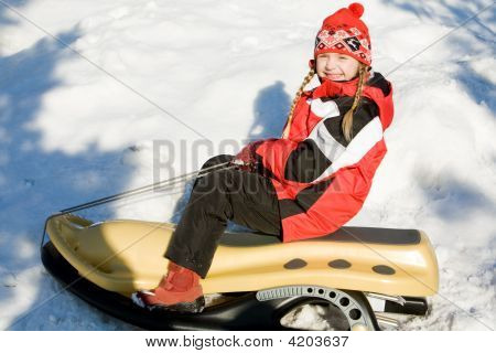 Girl On The Sledge
