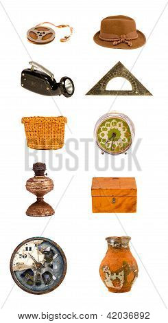 Assorted Various Old Objects And Tools Collection