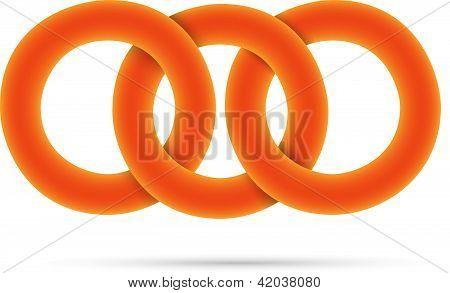 3D círculos laranja