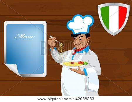 Traditional italian best food from Chef