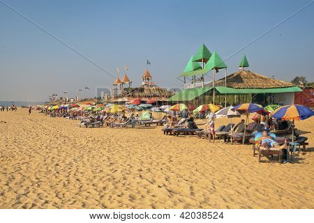 Expanse Of Sand And Beach For Holidaymakers