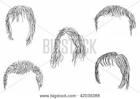 Set Of Wigs