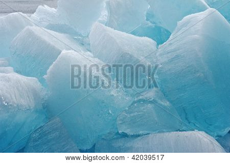 Ice Blocks Of Pure Ice