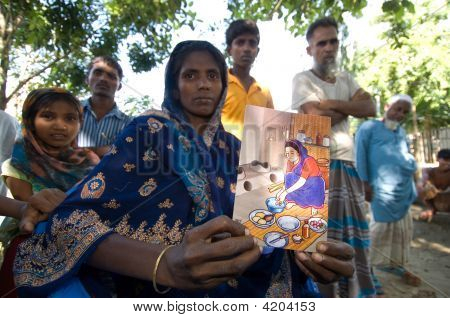 Woman Teaching Sanitation