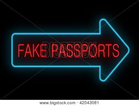 Passaportes falsos.