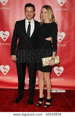 LOS ANGELES - FEB 8:  Jimmy Kimmel; Molly McNearney arrives at the 2013 MusiCares Person Of The Year Gala  at the Los Angeles Convention Center on February 8, 2013 in Los Angeles, CA