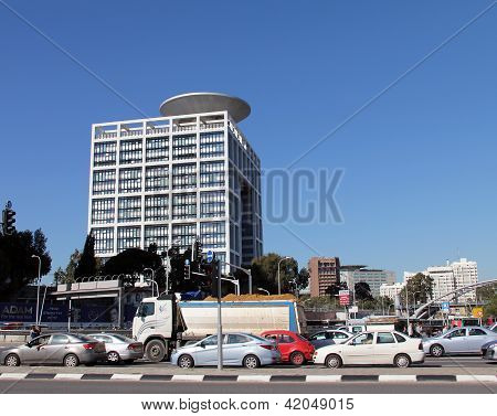 Ministry Of Defense Of Israel On  Blue Sky Background