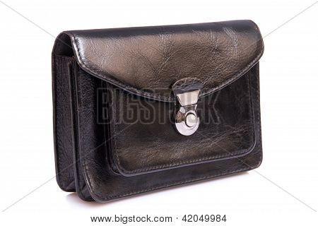 Black Leather Male Bag