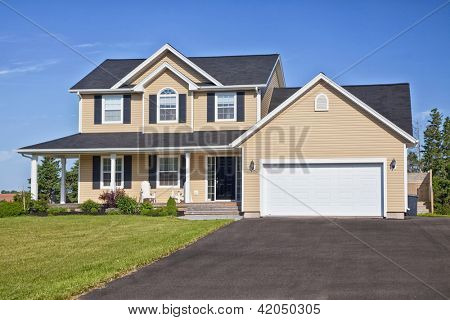 Large family home in a rural area.