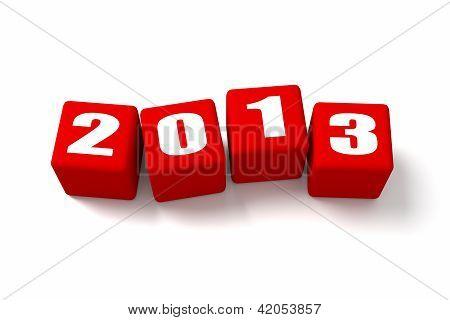 Novo ano 2013 vermelho cubos