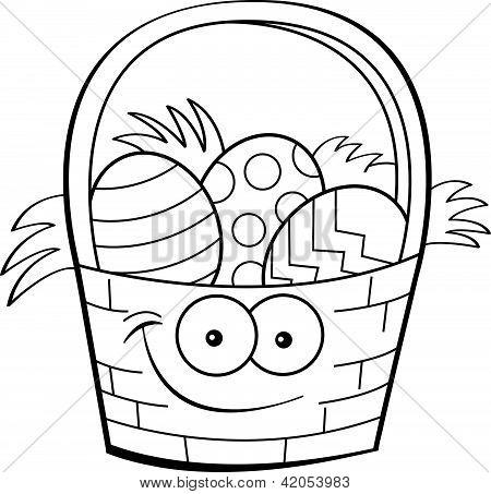 Canasta de Pascua de dibujos animados