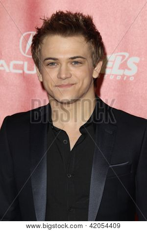 LOS ANGELES - FEB 8:  Hunter Hayes arrives at the 2013 MusiCares Person Of The Year Gala Honoring Bruce Springsteen  at the Los Angeles Convention Center on February 8, 2013 in Los Angeles, CA