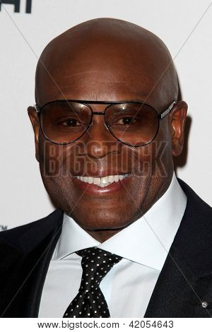 "LOS ANGELES - FEB 9:  Antonio ""L.A."" Reid arrives at the Clive Davis 2013 Pre-GRAMMY Gala at the Beverly Hilton Hotel on February 9, 2013 in Beverly Hills, CA"