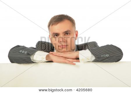 Businessman With Board