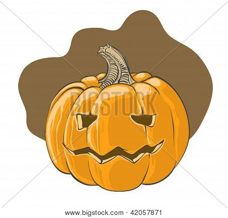 Halloween pumpkin - vector illustration
