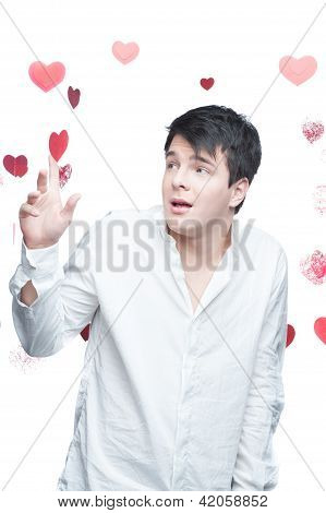 young gentle brunette man
