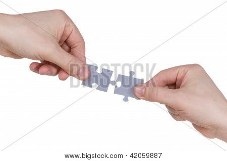 Hands Connecting Jigsaw Puzzle