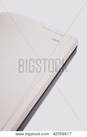 Black Calendar And White Background