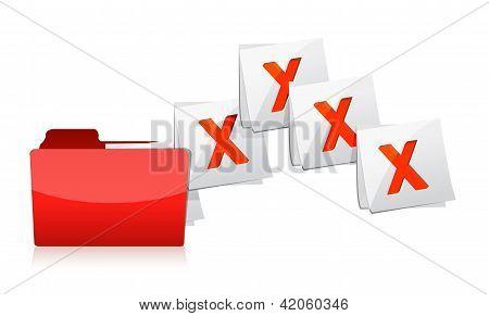 Eliminación de documentos de la carpeta