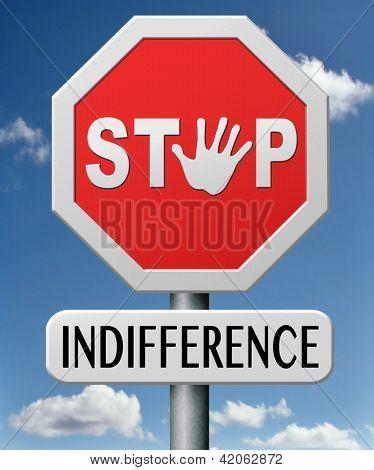parada indiferencia indiferente e ignorante