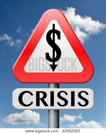crisis dollar crash recession and inflation economic financial downfall stock market