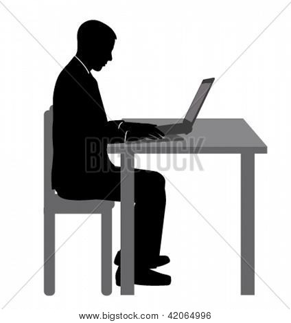 young man working on his laptop