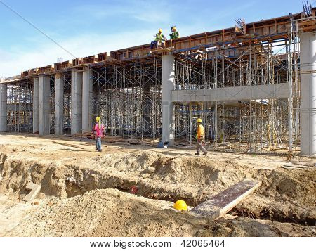 Workers Constructing An Airport
