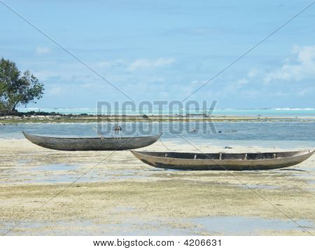 Canoes in Madagascar