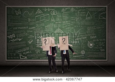 Business People And Question Mark