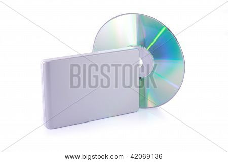 External Hard Disk And Dvd Isolated