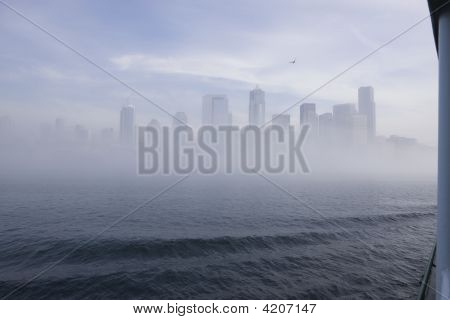 Seattle Skyline In The Fog