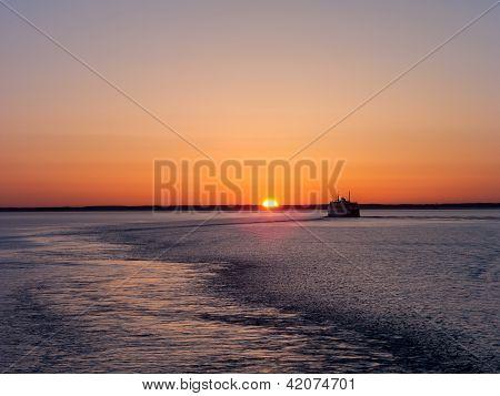 Sun Sea And Ship